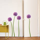 Purple Allium Flower Wall Decals Wall Decal