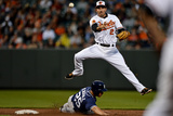 Baltimore, MD - May 14: Shortstop J.J. Hardy and Will Venable Photographic Print