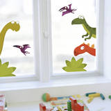 Dino's Family Window Decal Stickers Window Decal