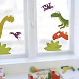 La famiglia di Dino (vetrofania) Adesivo per finestre