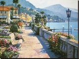 Bellagio Promenade Reproduction sur toile tendue par Howard Behrens