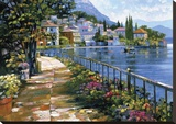 Sunlit Stroll Stretched Canvas Print by Howard Behrens