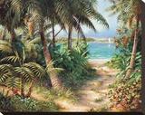 Bahama Sail Stretched Canvas Print by Art Fronckowiak