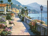 Bellagio Promenade Stretched Canvas Print by Howard Behrens