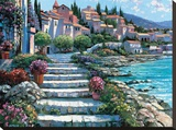 Steps of St. Tropez Stretched Canvas Print by Howard Behrens