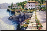 Stairway to Carlotta Stretched Canvas Print by Howard Behrens