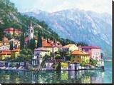 Riflessi del Lago di Como Stampa su tela di Howard Behrens