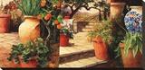 Turo Tuscan Orange Stretched Canvas Print by Art Fronckowiak