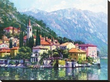 Reflections of Lake Como Stretched Canvas Print by Howard Behrens