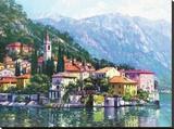 Reflets du lac Como Reproduction sur toile tendue par Howard Behrens