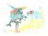 Beach Girl コレクターズプリント : ローラ・ゾンビ