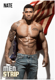 Nate Flag Men of the Strip Pin-up Poster Prints