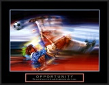 Opportunity: Soccer Print by Bill Hall