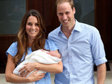 Prince William and Duchess Catherine with their Newborn Son at St Mary's Hospital, London, July 23 Photographic Print