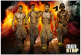 Men of the Strip Fire Pin-up Poster Affiches