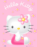 Hello Kitty Flowers Prints