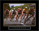Courage: Making a Turn Bicycle Race Posters