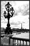 Paris Sunset Gates Framed Photographic Print by Philippe Hugonnard