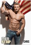 Chris - Flag Men of the Strip Pin-up Poster Plakaty