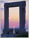 Gateway, Temple of Apollo, Archaeological Site, Naxos, Cyclades, Greek Islands, Greece, Europe Framed Photographic Print by  Tuul