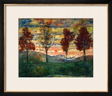 Four Trees, 1917 Framed Giclee Print by Egon Schiele