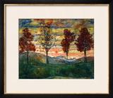 Four Trees, 1917 Framed Giclee Print by Egon Schiele