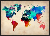 World Watercolor Map 1 Prints by  NaxArt