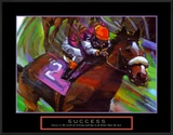 Success: Horse Race Jockey Prints by Bill Hall