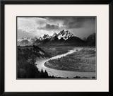 Tetons y el río Snake, Parque nacional de Gran Teton, c.1942 Pósters por Ansel Adams