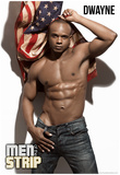 Dwayne - Flag Men of the Strip Pin-up Poster Prints