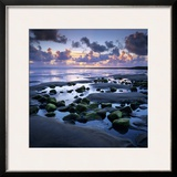 Sunset over Rock Pool, Strandhill, County Sligo, Connacht, Republic of Ireland, Europe Framed Photographic Print by Stuart Black