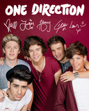 One Direction, photo de groupe couleur bordeaux Posters