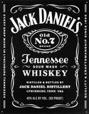 Jack Daniels - Bottle Label Tin Sign Tin Sign