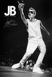 Justin Bieber - B&W Kunstdrucke