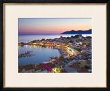 Harbour at Dusk, Pythagorion, Samos, Aegean Islands, Greece Framed Photographic Print by Stuart Black