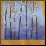 Birch Trees II Mounted Print by Cheryl Martin