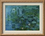 Nenúfares Reproducción en lienzo enmarcado por Claude Monet