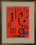 Design from 'Nouvelles Compositions Decoratives', Late 1920S (Pochoir Print) Framed Giclee Print by Serge Gladky