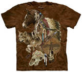 Wolf Spirit Warrior T-shirts