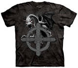 Celtic Cross Dragon T-shirts