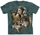 Wild Spirit Maiden T-shirts
