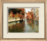 A Venetian Backwater Poster by Fritz Thaulow