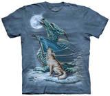 Dragon Wolf Moon T-skjorte