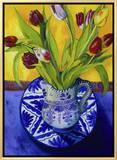 Tulips-Series I Framed Canvas Print by Isy Ochoa
