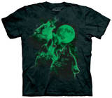 Glowing Three Wolf Moon T-shirts