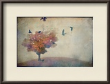 Oversized Crows Flying from Tree Framed Photographic Print by Mia Friedrich