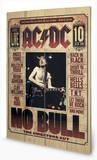 AC-DC - No Bull Wood Sign Panneau en bois