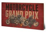 Moto - Grand Prix Wood Sign Panneau en bois