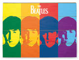 The Beatles - Pop Art Wood Sign Panneau en bois