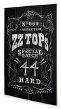 ZZ Top - Special Batch Wood Sign Træskilt
